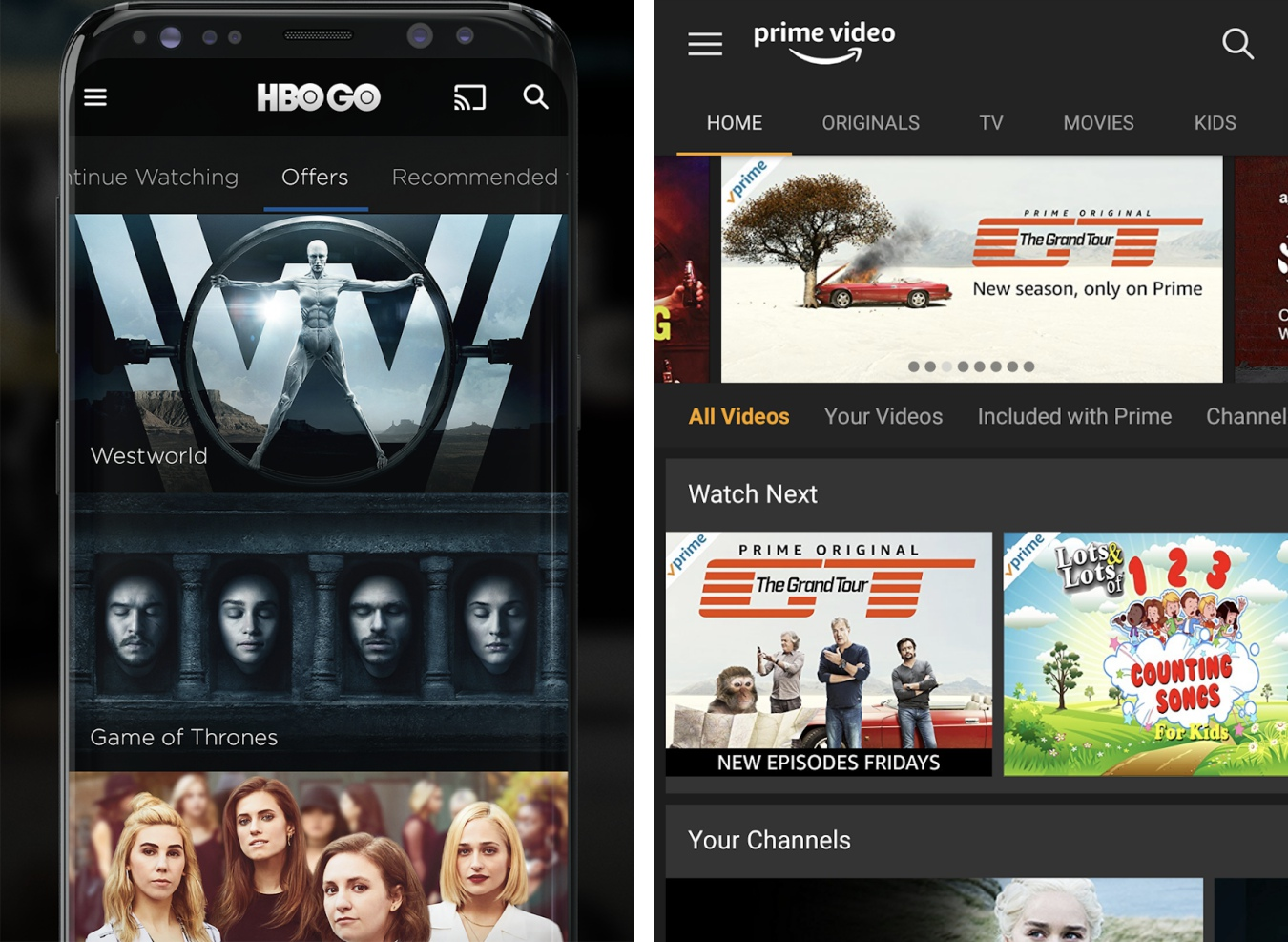 HBO GO a Amazon Prime