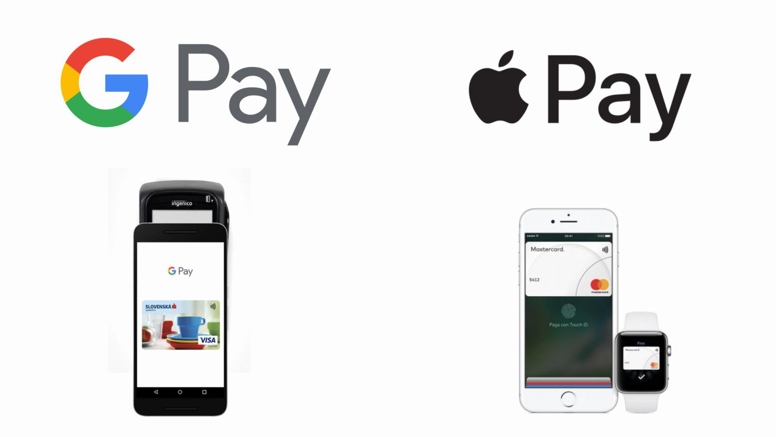 Platenie mobilom - Google Pay, Apple Pay
