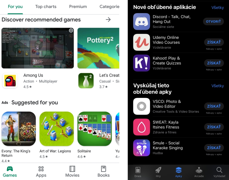 Google Play a App Store